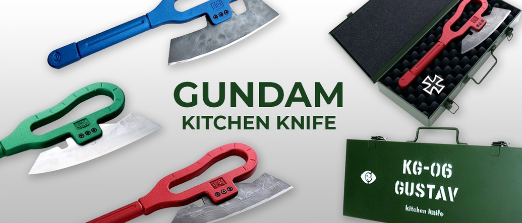 Cook Like an Anime Hero with Gundam-inspired Kitchen Knives