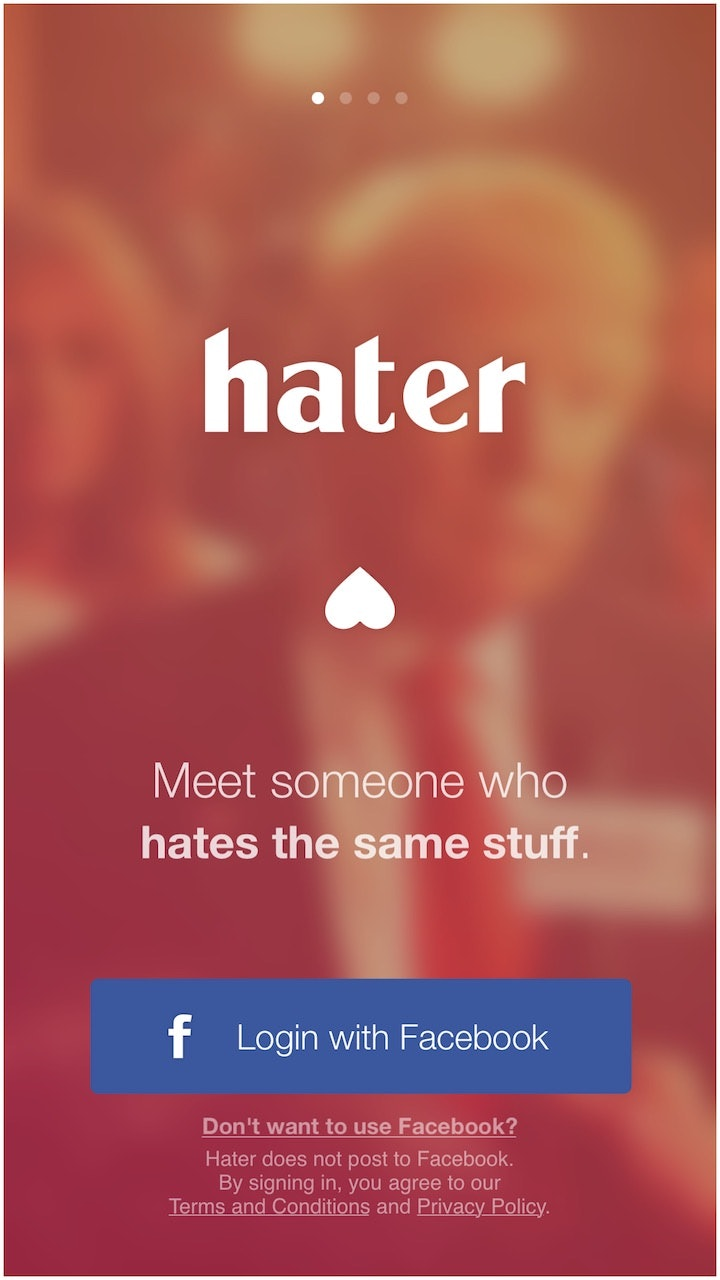 Hater: The Dating App That Helps You Find Your Match Based On The